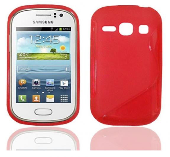 Θήκη TPU σιλικόνης Samsung S6810 Galaxy Fame κόκκινη